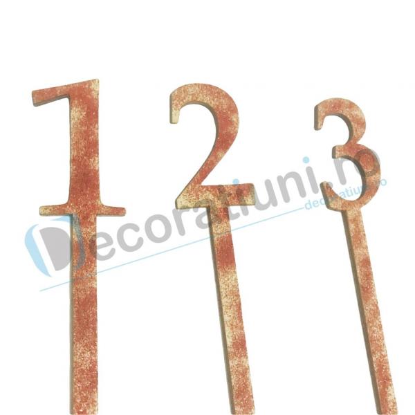 Numere de masa pentru nunta - model basic ascutite 2