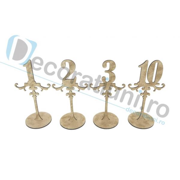 Numere de masa pentru nunta - model ROYAL cu suport 3