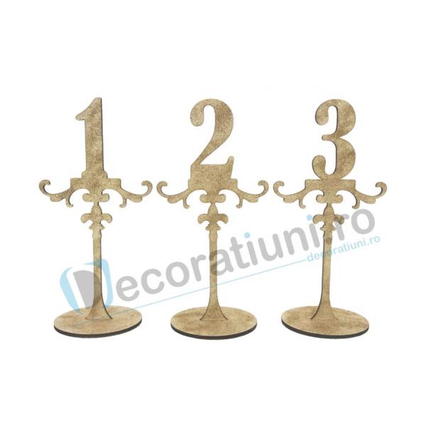 Numere de masa pentru nunta - model ROYAL cu suport 0