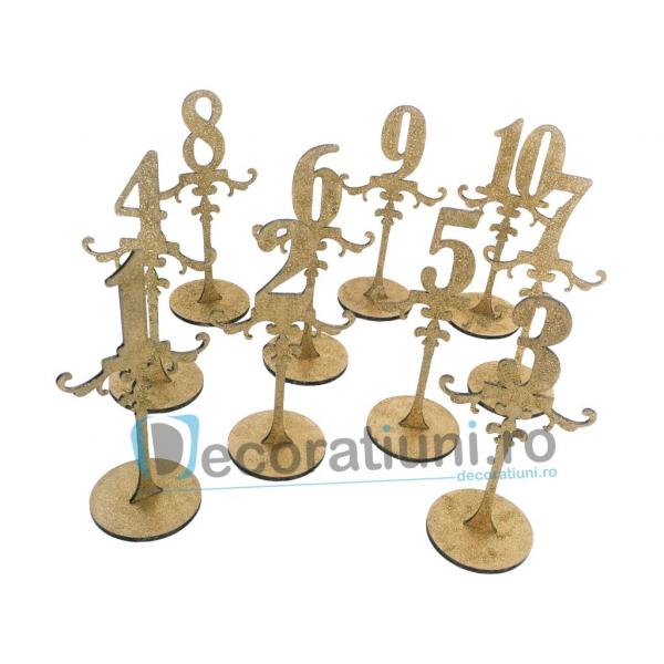 Numere de masa pentru nunta - model ROYAL cu suport 2
