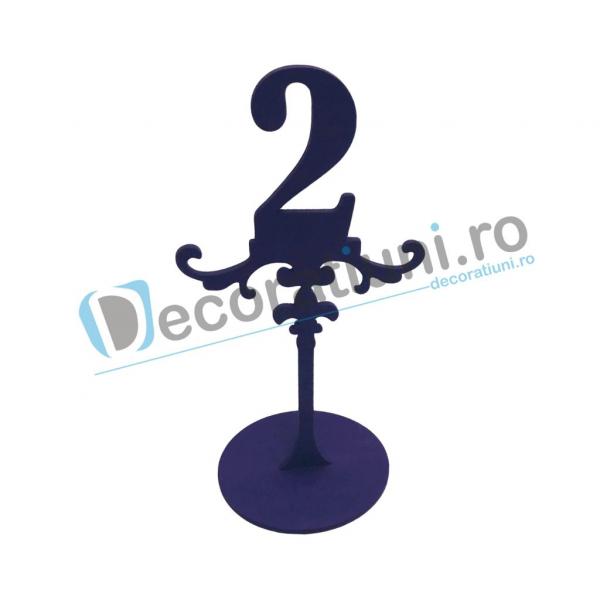 Numere de masa pentru nunta - model ROYAL cu suport 1
