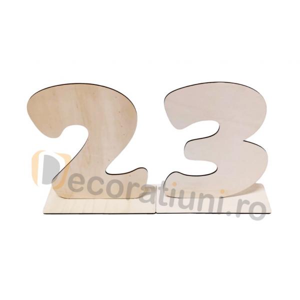 Set 2 cifre din lemn cu suport - 30cm inaltime 1