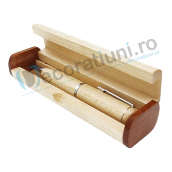 Stick usb pix din lemn si cutie personalizata 4