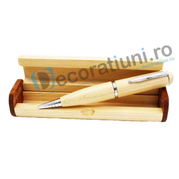 Stick usb pix din lemn si cutie personalizata 1