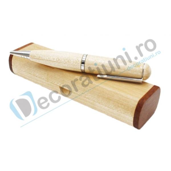 Stick usb pix din lemn si cutie personalizata 0
