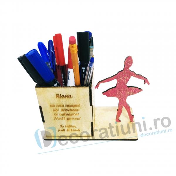 Suport pixuri din lemn pentru copii - model Ballerina Box 0