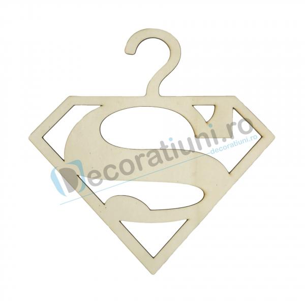 Umeras din lemn pentru copii - model Superman 0