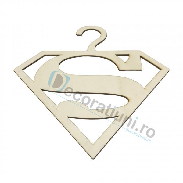 Umeras din lemn pentru copii - model Superman 2