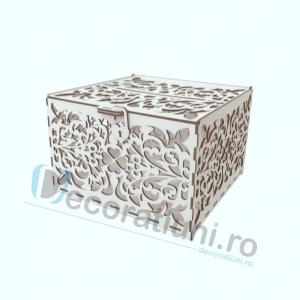 Cutie din lemn pentru dar - model Romantic1