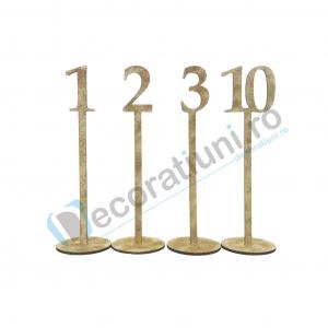 Numere de masa pentru nunta - model basic cu suport4