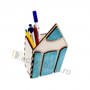 Organizator birou din lemn - model creion5