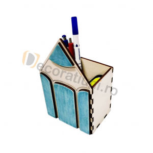 Organizator birou din lemn - model creion6