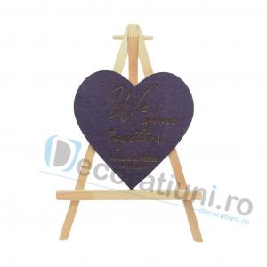 Marturie din lemn cu magnet pentru nunta - model SweetHeart [2]