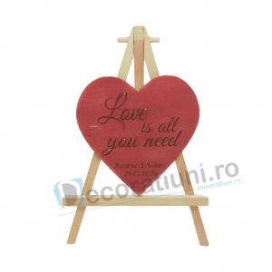 Marturie din lemn cu magnet pentru nunta - model SweetHeart [3]