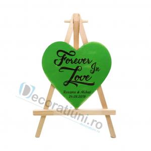 Marturie din lemn cu magnet pentru nunta - model SweetHeart [4]