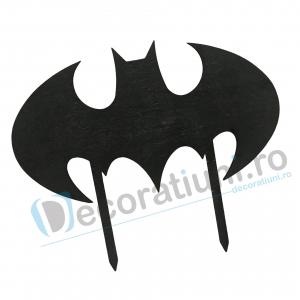 Cake topper pentru copii din lemn - model liliac Batman [1]