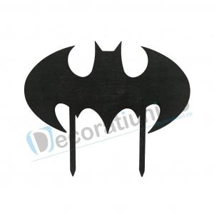 Cake topper pentru copii din lemn - model liliac Batman [0]