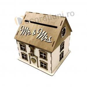 Casa din lemn pentru dar - model Casuta Noastra2