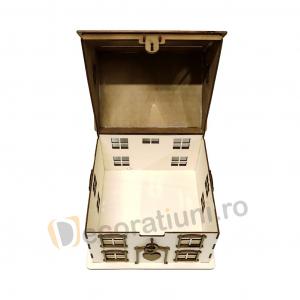 Casa din lemn pentru dar - model Casuta Noastra4