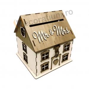 Casa din lemn pentru dar - model Casuta Noastra1