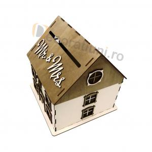Casa din lemn pentru dar - model Casuta Noastra9