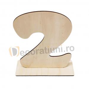 Cifra din lemn cu suport - 30cm inaltime1