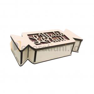 Cutie cadou din lemn pentru Craciun - model bomboana [4]