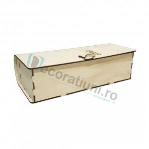 Cutie de vin din lemn de 1 sticla - model carte2