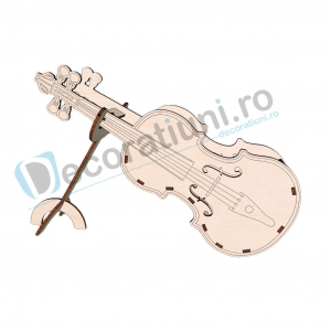 Cutie decorativa din lemn - model Violin0