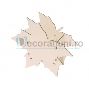 Cutie din lemn decorativa - model Leaf0