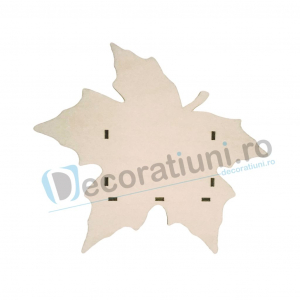 Cutie din lemn decorativa - model Leaf1
