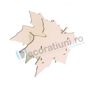Cutie din lemn decorativa - model Leaf2