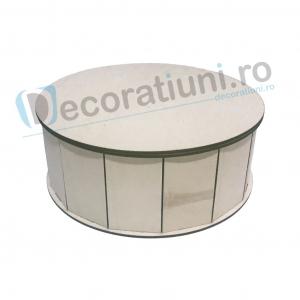 Cutie din lemn decorativa - model Round0