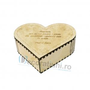 Cutie din lemn in forma de inima - model Amintiri1