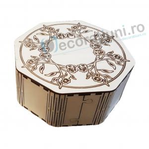 Cutie din lemn octogonala - model Kally0