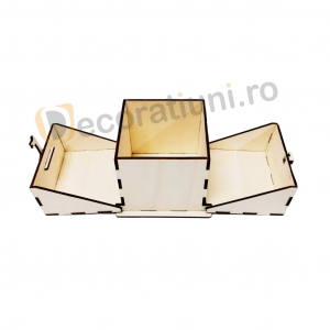 Cutie din lemn ornamentala - model Treasure1