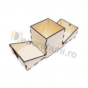 Cutie din lemn ornamentala - model Treasure3