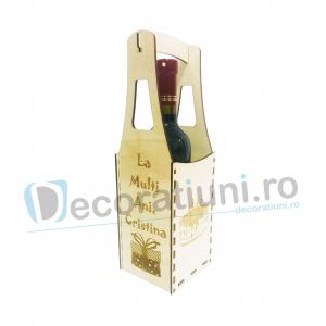 Cutie din lemn vin - model Piont0