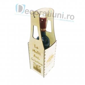 Cutie din lemn vin - model Piont2