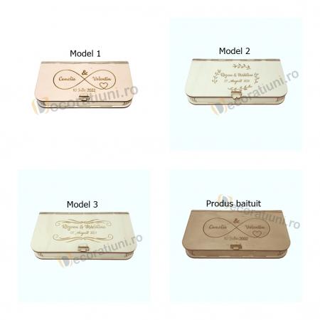 Cutie pentru fotografii si stick usb din lemn3