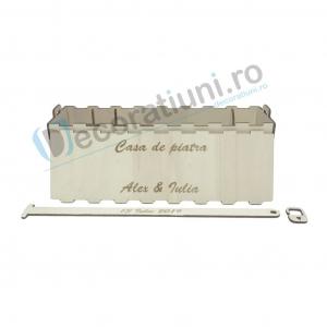 Cutie vin din lemn - model Davino3