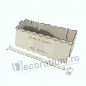 Cutie vin din lemn - model Davino4