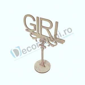 Decoratiune din lemn pentru botez - model GIRL1