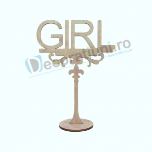 Decoratiune din lemn pentru botez - model GIRL0