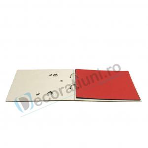 Guestbook din lemn personalizat, guestbook coperti - model ramura cu flori si fluturi [3]