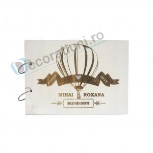 Guestbook din lemn personalizat, guestbook nunta - model balon0