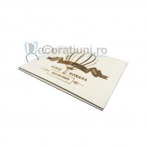 Guestbook din lemn personalizat, guestbook nunta - model balon3