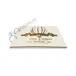 Guestbook din lemn personalizat, guestbook nunta - model balon1
