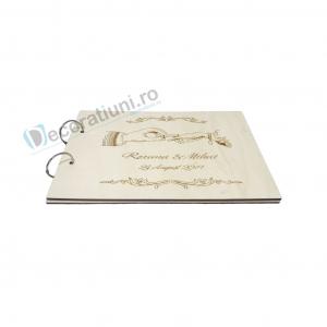 Guestbook din lemn personalizat, guestbook nunta - model maini1