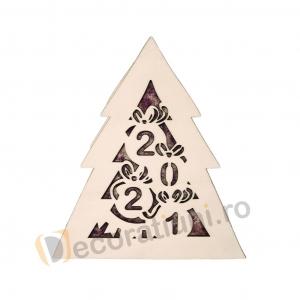Cutie din lemn pentru cadou de Craciun - model bradut5